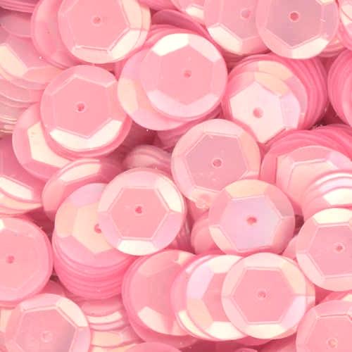 8mm Cup Sequins Satin Hot Pink Opaque